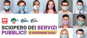 9 dicembre 2020: sciopero generale pubblico impiego